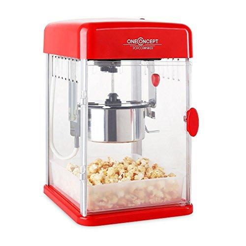 oneconcept rockkorn • popcornmaschine • popcorn maker • popcornbereiter • 50er jahre retro design • 350 watt ruehrwerk • kurze aufheizzeit • inn - oneConcept Rockkorn • Popcornmaschine • Popcorn-Maker • Popcornbereiter • 50er Jahre Retro-Design • 350 Watt Rührwerk • kurze Aufheizzeit • Innenbeleuchtung • Edelstahltopf • entnehmbar • Magnetschloß-Tür • Dosierlöffel • einfache Reinigung • rot