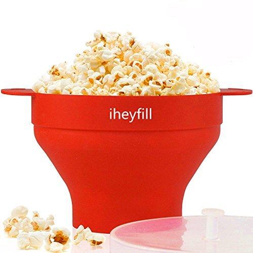 popcorn popper mikrowellen silikon popcorn maker zusammenklappbare schuessel mit griffen - Popcorn Popper, Mikrowellen-Silikon Popcorn Maker, zusammenklappbare Schüssel mit Griffen