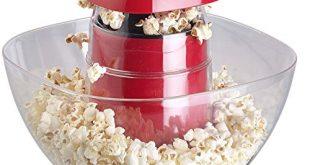 Rosenstein Soehne Popcorn Selbermachen Heissluft Popcorn Maschine mit Auffangschale fuer 80 g 310x165 - Rosenstein & Söhne Popcorn-Selbermachen: Heißluft-Popcorn-Maschine mit Auffangschale, für 80 g Mais, 1.200 Watt (Popcorngeräte)